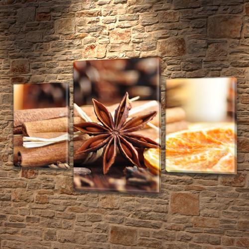 Картины для спальни на холсте фото, на Холсте син., 45х70 см, (30x20-2/45x25)