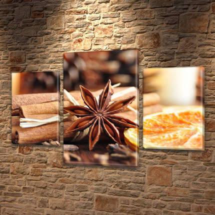 Картины для спальни на холсте фото, на Холсте син., 45х70 см, (30x20-2/45x25), фото 2