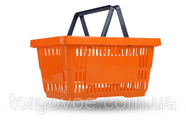 Корзинка покупательская пластиковая VKF Renzel б/у для магазина. Отличное состояние, фото 1