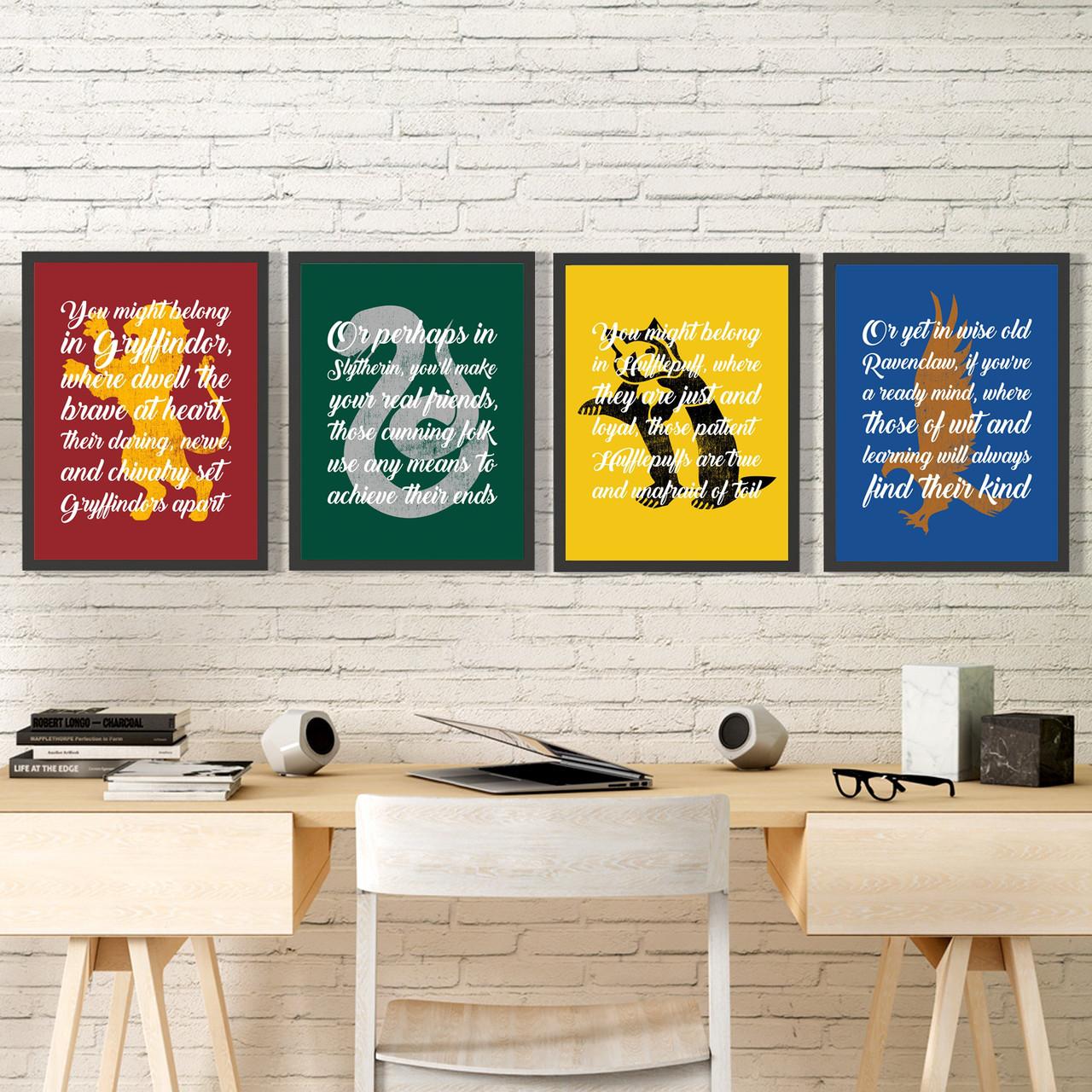 Набор Постеров всех факультетов Хогвартса Set №1