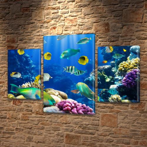 Картины на холсте модульные купить в интернет магазине картин, 45х70 см, (30x20-2/45x25)