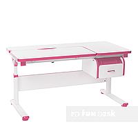 Регулируемая парта FunDesk Creare Pink с выдвижным ящиком, фото 1