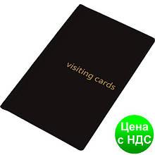 Візитниця для 60 візиток, PVC, чорна 0304-0003-01