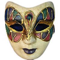 Маска карнавальная Венецианская папье-маше (23см) 29032