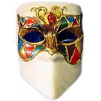 Маска карнавальная Венецианская папье-маше (16,5см) 29037