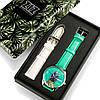 Подарок девушке часы в коробке наручные бирюзовые Ананас