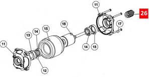 Шестірня гвинтові / шестірня черв'ячна PMD1650.4610