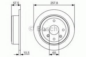Тормозной диск Bosch Лачетти, BOSCH, 0986479S08