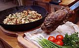 Сковорода чугунная (жаровня), d=500мм, h=100мм с чугунной крышкой, фото 2