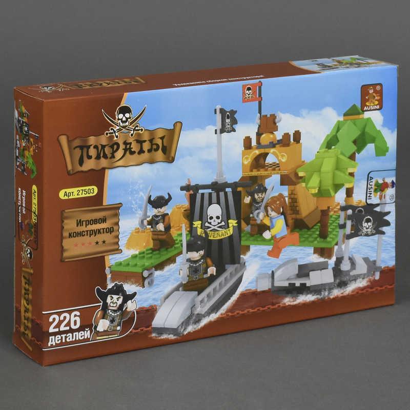 """AUSINI 27503 (36) """"Пираты. Внезапное нападение"""", 226 дет, в коробке"""