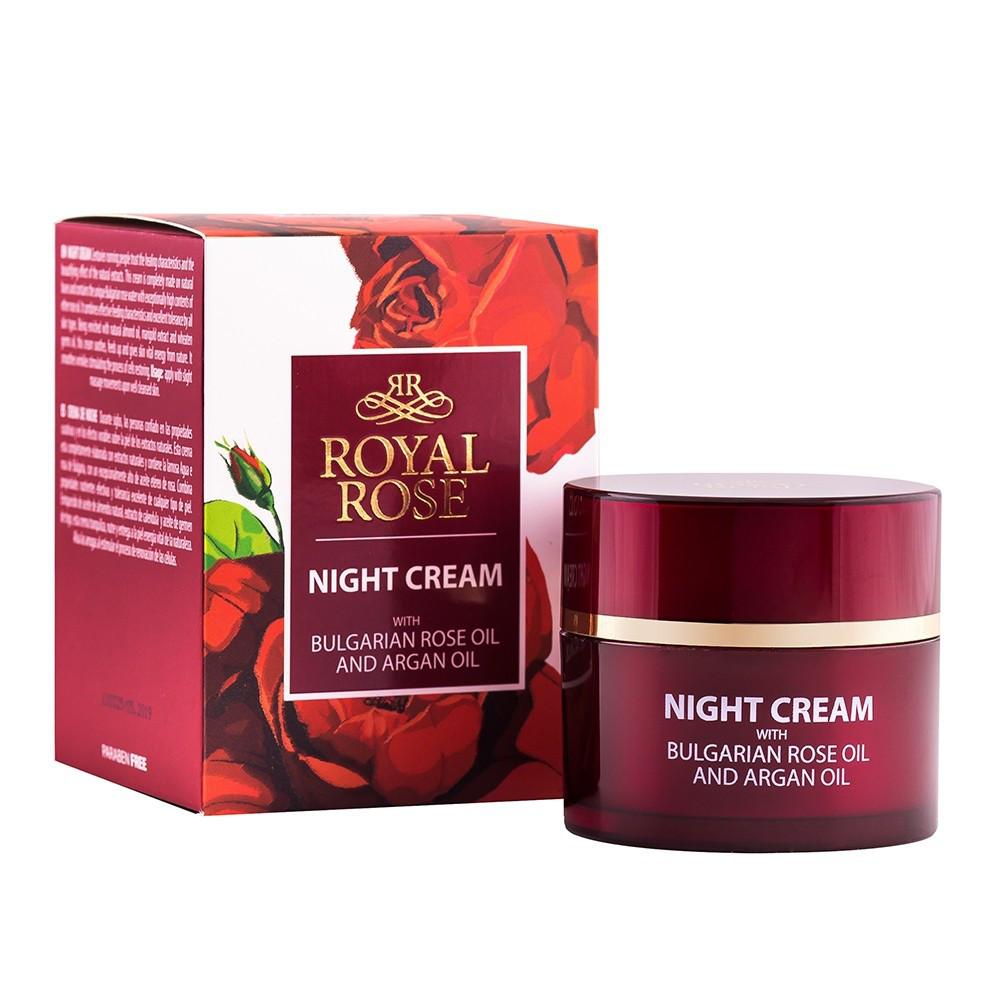 Питательный ночной крем с маслом розы и аргана Royal Rose от BioFresh 50 мл