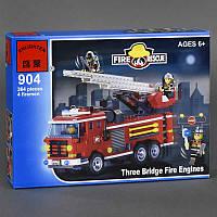 """BRICK 904 (36) """"Пожарная машина"""", 364 дет, в коробке СОБРАННЫЙ"""