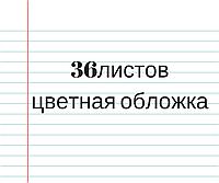 Тетрадь цветная обложка 36л. линия