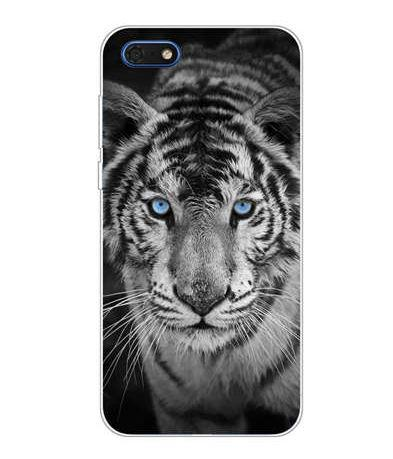 Чехол бампер с картинкой (силикон) для Huawei Y5 2018 Белый тигр
