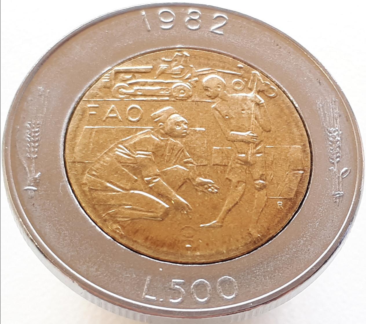 Сан-Марино 500 лир 1982