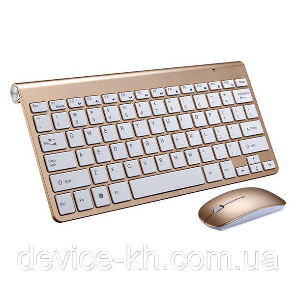 Беспроводная мини клавиатура + мышка Apple 908