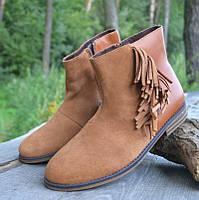a250539709ab Замшевые деми ботинки Next (Некст), р 38-39. Подростковая брендовая обувь