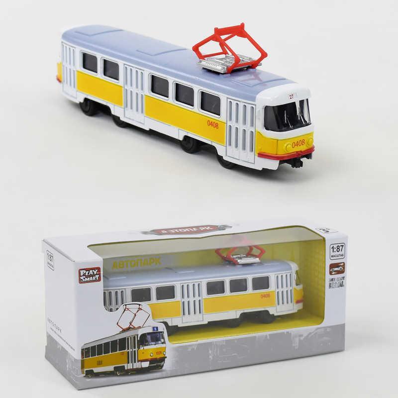 JT Трамвай металлопластик 6411 В (96/4) инерция, в коробке