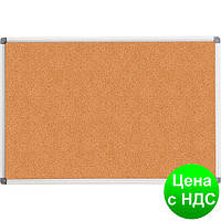 Доска пробковая, 60x90см, ал. рамка BM.0017