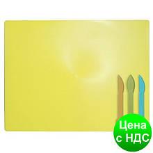 Дощечка для пластилина, 3 стека, желтая ZB.6910-08