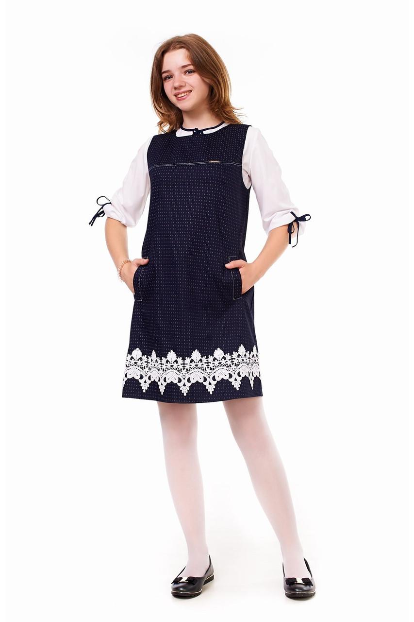 8a566d9ea01 Красивое школьное платье с кружевом - EVA LOOK в Хмельницком