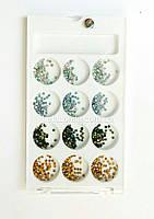 Камешки разноцветные для декора ногтей, фото 1