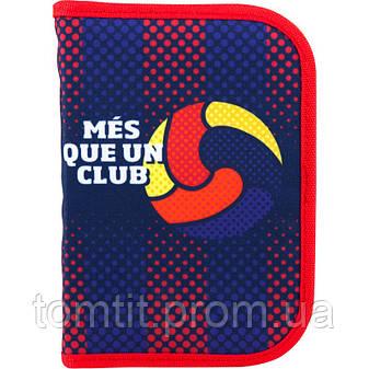 Пенал - книжка FC Barcelona - Футбольный клуб Барселона BC18-622  раскладной с 2 отворотами, ТМ Kite (Кайт), фото 2