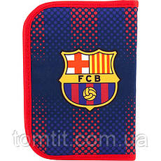 Пенал - книжка FC Barcelona - Футбольный клуб Барселона BC18-622  раскладной с 2 отворотами, ТМ Kite (Кайт), фото 3