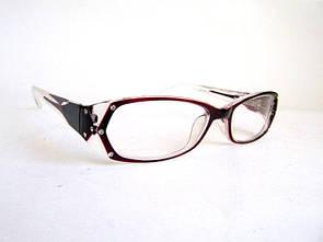 Бордовые женские очки в роговой оправе