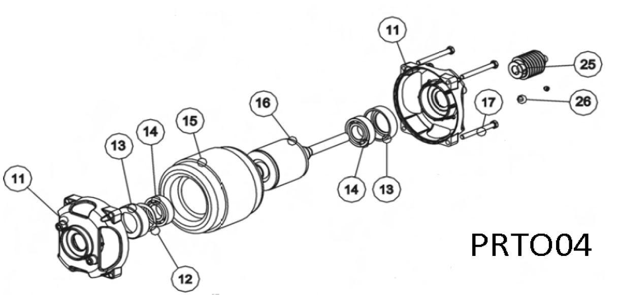 Двигатель в сборе для распашной автоматики TOONA 4016 - 5016 PRTO04