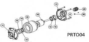 Двигун в зборі для розпашній автоматики TOONA 4016 - 5016 PRTO04