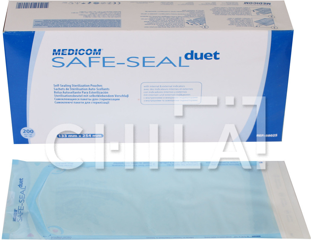 Пакети для стерилізації 133 x 254мм (200 шт/уп)