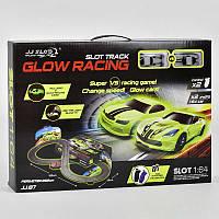 Автотрек Glow Racing JJ 87-2 (8) в коробке