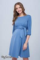 Платье для беременных и кормящих GLORIA, темно-голубое 1, фото 1