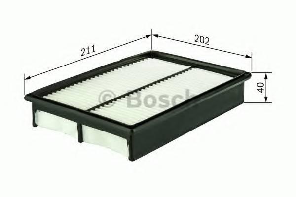 Фильтр воздушныйЛанос 97- BOSCH, 1457433963