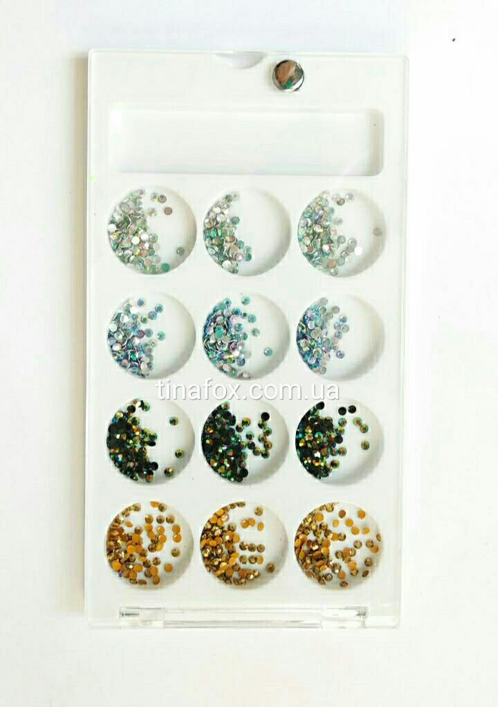 Камешки разноцветные для декора ногтей