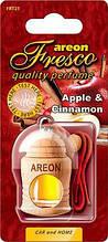 Ароматизатор яблоко с корицей Areon Fresko Apple Cinnamon пробковый