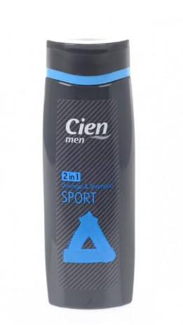 Гель для душа + шампунь Cien men 2 in1 Sport 300мл, фото 2