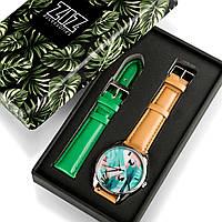 Подарок девушке парню часы в коробке наручные Попугай, фото 1