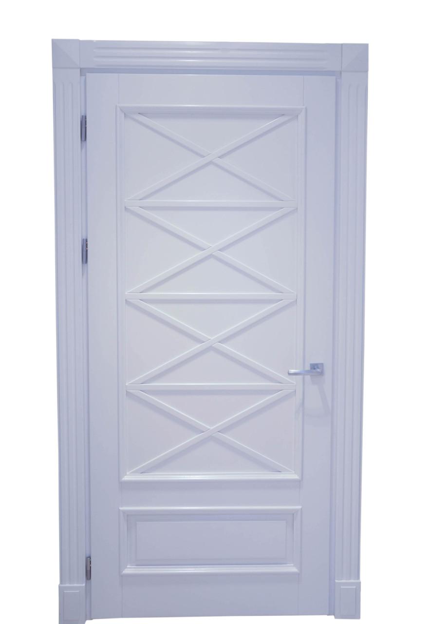 Межкомнатная дверь ясень, цвет Белый матовый. Серия 120