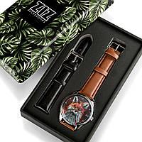 Подарок любимому парню девушке часы в коробке Лис, фото 1