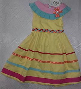 Желтое летнее платье (1-2 года)