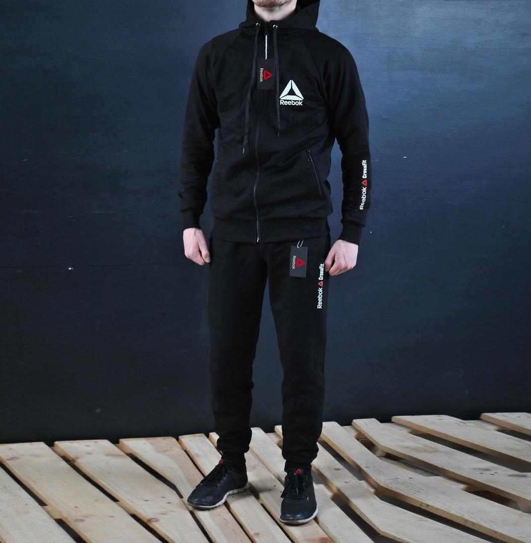 4e439adb Мужской спортивный костюм Reebok Crossfit капюшон черный: продажа ...