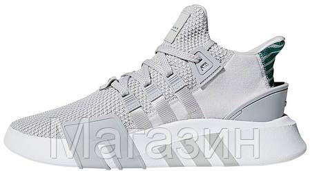 Мужские кроссовки adidas EQT Support Basket Adv Grey Aдидас серые, фото 2