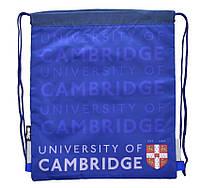 """Сумка для обуви YES """"Кембридж синий"""" 555325 40х35см +карман на молнии SB-10, полиэстер"""