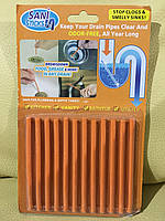 Средство для очистки сливных труб канализации Sani Sticks Цитрус