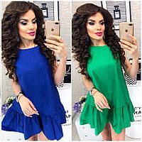 Женское летнее платье с воланом