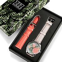 Подарок сестре дочери девушке часы в коробке Пионы, фото 1