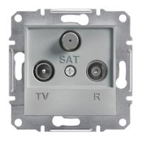 Розетка TV-R-SAT крайова Алюміній Schneider Electric