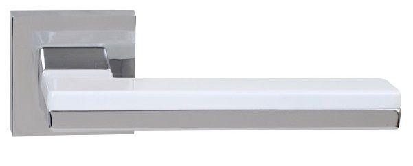 Ручка дверная на розетке RDА Domino хром/белый